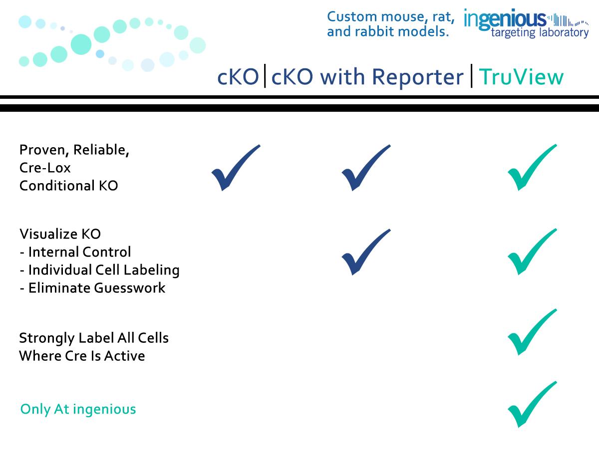 cKO Reporter TruView Comparison Chart